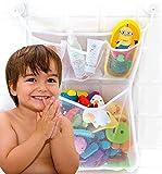 Bath Toy Organizer, Extra Durable, Washable and Quick Dry Bathtub...