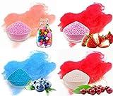 Aromazucker 4x250g mit Geschmack Bubble Gum, Erdbeer, Heidelbeere, Kirsche -