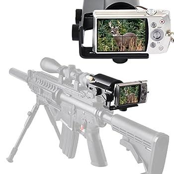 Gosky Scope Cam Adapter - Scope Camera Mount for Rifle Scope Gun Scope Airgun Scope - for Compact Camera Casio Sony Canon Nikon Fujifilm Leica -Record Hunt in The Camera  Scope Camera Adapter