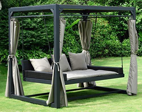 DEKO VERTRIEB BAYERN XXL Premium Gartenpavillon Sonneninsel Sonnenliege Gartenliege Pavillon inkl. Lieferung per Spedition