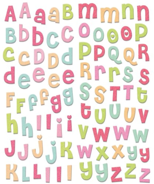 me & my BIG ideas Chipboard Sticker, Jewel Alphabet