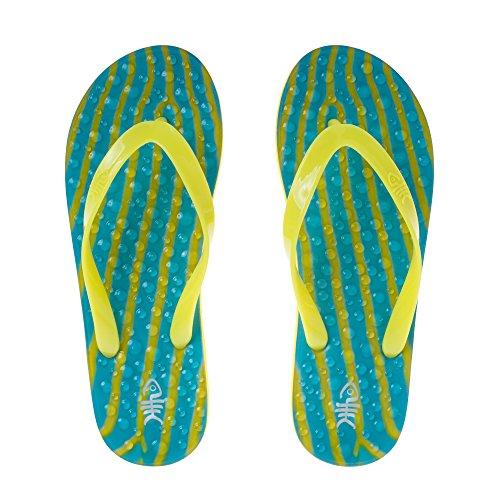 flopZ Flip Flops, Gelb - Ripples Yellow Straps - Größe: S (36-37)