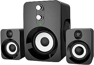 Computer Speakers for Desktop Laptop PC, 2.1 Stereo Speakers Subwoofer 3.5mm Jack   USB-Powered (FT-10)