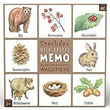 Frechdax® Memo Game - Gioco di memoria per bambini, 40 carte – Gioco di carte – Gioco da 3 anni (memo, animali della foresta