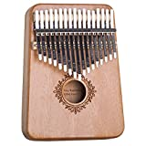 Kalimba Thumb Piano 17 Keys with Tuning Hammer and Study Instruction,Portable Mbira Sanza Finger Piano, Musical Intruments Gifts for Kids Adults Beginners