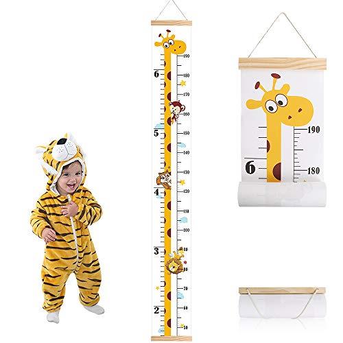 Bebé Gráficos de Crecimiento Altura Tabla de Crecimiento Colgar en la Pared Regla Medidor Para Niños de pared de Dormitorio Infantil Guardería Decoración (Jirafa)