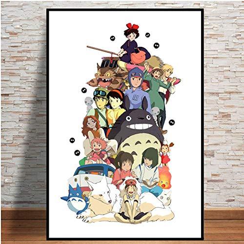 SDFLK Puzzles 1000 Teile Zusammenbau Picture Studio Ghibli Tribut Japan Anime Comic Kinder S Kunst Für Erwachsene Kinder Spiele Lernspielzeug