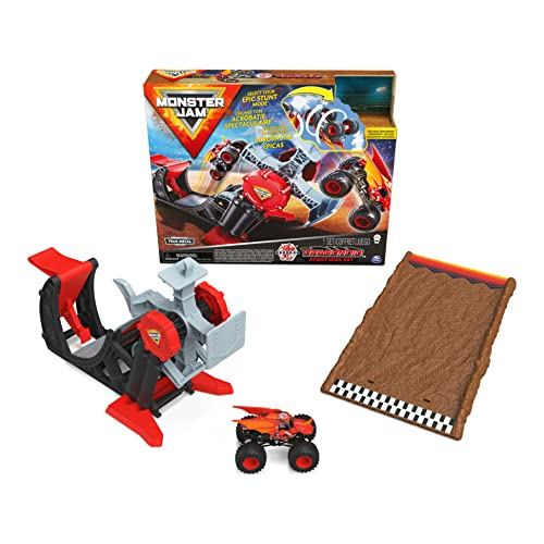 Monster Jam, Official Bakugan Dragonoid Stunt Dial Playset with Exclusive 1:64 Scale Dragonoid Die-Cast Monster Truck