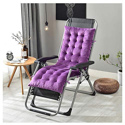 GELing Tumbona sillón reclinable Lounge de Almohadilla cojín Patio jardín Hamaca al Aire Libre Cubierta,Púrpura,160X50X10cm