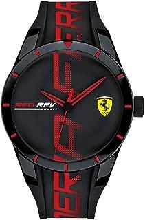 Men's RedRev Quartz Plastic and Silicone Strap Casual Watch, Color: Black (Model: 830614)