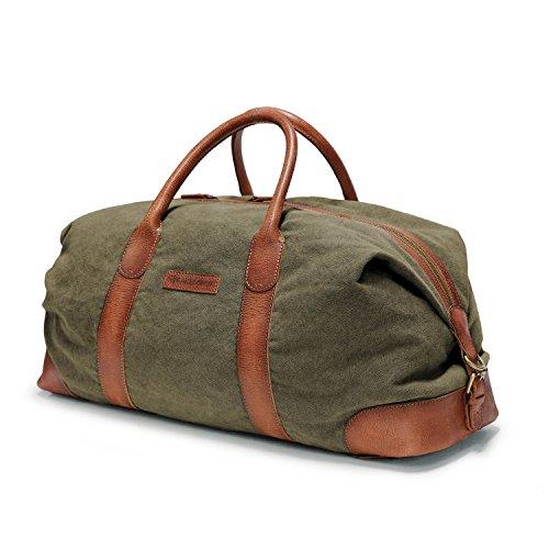 DRAKENSBERG Reisetasche, groß, handgepäck-tauglich, Kimberley-Duffel-Weekender, 50 L, Canvas und...