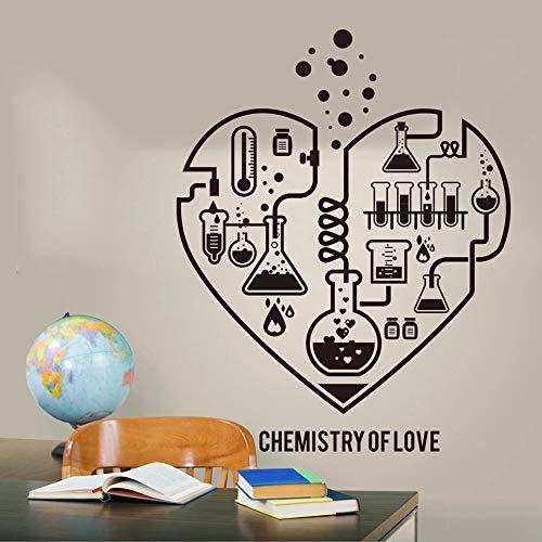 Química a gran escala corazón abstracto pegatinas de pared laboratorio clase freak química ciencia festival pared