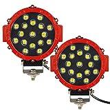 Auxtings 7 Pulgadas 2 pcs 51W barra de luz LED Spot Off-Road Conducción Luces Luz de trabajo para coche pastilla