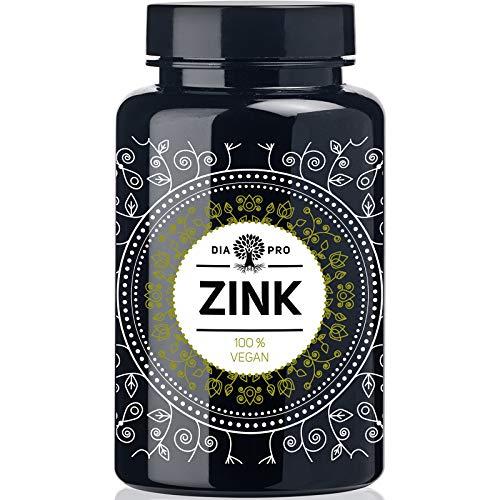 DiaPro Hochdosierte Zink-Tabletten mit 25 mg bioverfügbarem Zink pro Tablette aus Zink-Bis-Glycinat. 365 Stück Jahresvorrat. 100{849b33d5b2705a7936ec00396676cd6f14b492e84fd1e18ea2ea923677b4cce5} Vegan. Laborgeprüft. Made in Germany.