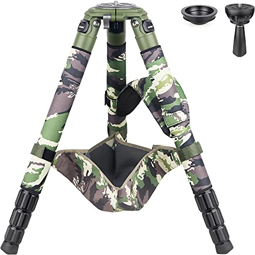 Carbon Fiber Bowl Tripod-INNOREL RT90CG Heavy Duty Bowl Tripod with 75mm Bowl Adapter 40mm Leg Tube Ultra Stable Professional Camera Tripod Max Load 88lb/40kg Green Camouflage Sleeve