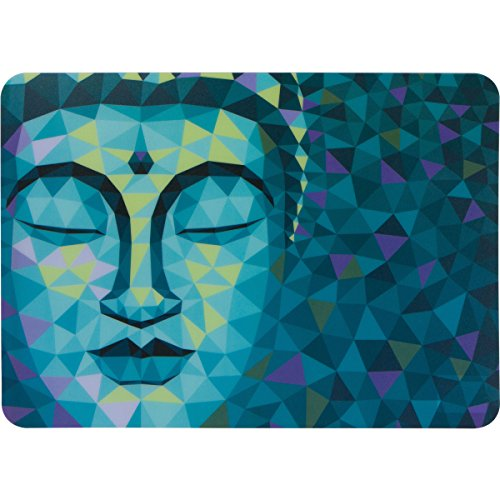 Planet Ethnic Colorful Buddha Designer Polypropylene Place mats Tablemat Set (6 placemats, 15.75 X 11.4 inches Each)