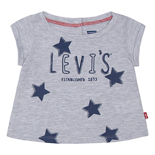 Levi's Baby Girls' Graphic T-Shirt, Lunar Rock Heather, 6/9M
