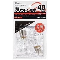 オーム電機 OHM ミニクリプトン電球 40W形クリア2P 110V/36WC/2P