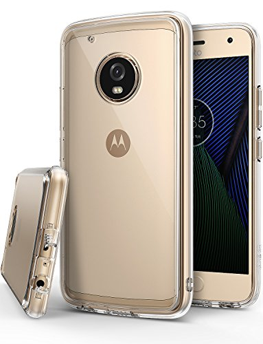 Ringke Fusion Compatible with Motorola Moto G5 Plus Case Crystal Clear PC Back TPU Bumper Case Drop Protection, Shock Absorption Technology - Clear