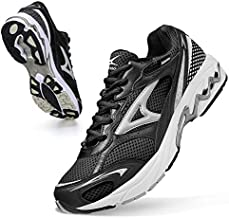 ASHION Men's Athletic Shoes Non Slip Lightweight Sneaker Walking Tennis Slip-on Shoes Wide Sneakers Barefoot Running Shoes Cushioned Sportiva Long Distance Black 10.5