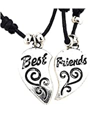 AKIEE Collar Best Friends Forever BFF Hecho a Mano para Hombre Mujer Niños Niñas Ajustable Colgante Taichi Collar Pareja Mejores Amigos
