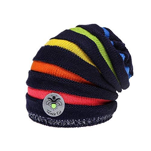 Twinkle Kid - Kinder Reflektor Mütze - Rainbow Beanie Blue (50/52)