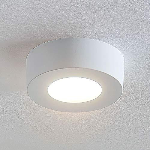 Arcchio LED Deckenlampe 'Marlo' (spritzwassergeschützt) (Modern) in Weiß u.a. für Badezimmer (1 flammig, A+, inkl. Leuchtmittel) - Bad Deckenleuchte, Lampe, Badezimmerleuchte