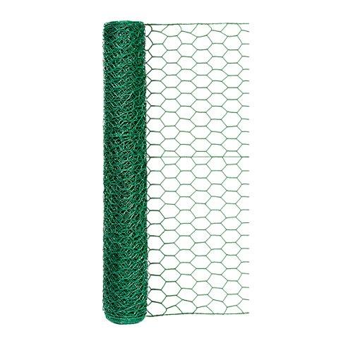 Origin Point 100050568 20-gauge 1-inch Green Vinyl Hex Netting 24inx25ft, 24' x 25'