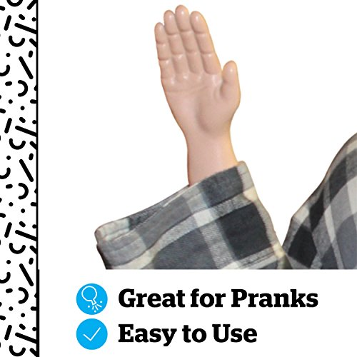 """BigMouth Inc. Tiny Hands Toy – Hilarious Realistic Looking 3"""" Plastic Hands for Costumes and Pranks, Tricks to Keep Up Your Sleeve, Little Hands Toys with Handles - Funny Gift Idea for All Ages"""
