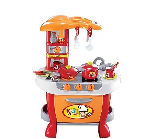 alta calidad y envío rápido Juguetes Juguetes Juguetes Xiaomei Niños de simulación educativa de Sonido y luz Cocina Entre Padres e Hijos Juego de rol Niño niña Regalo de cumpleaños (Color   naranja)  precios mas bajos