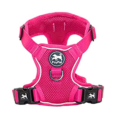 PoyPet Reflective Soft Breathable Mesh Dog Harness No Pull & No Choke Double Padded Vest Adjustable