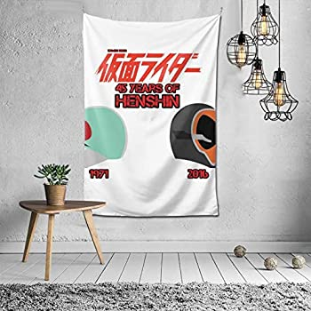 Woidxzxza Kamen Rider 45th Anniversary Tapestry Wall Hanging with Art Nature Home Decorations for Living Room Bedroom
