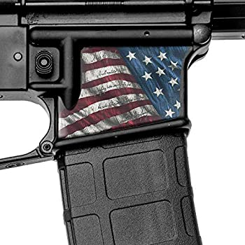 GunSkins Magwell Skin - Premium Vinyl Decal - Easy to Install and Fits AR-15 Lower Receivers - 100% Waterproof Non-Reflective Matte Finish - Made in USA - Proveil Victory