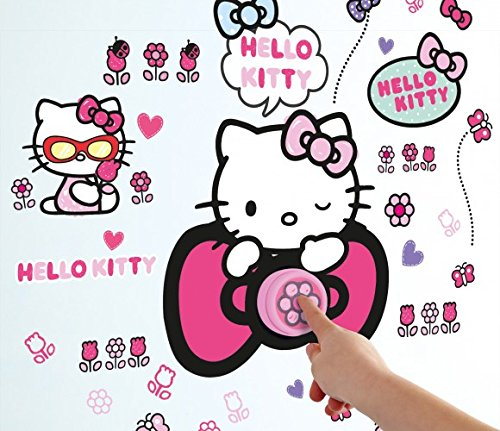 Hello Kitty Wandsticker leuchtend Wandtattoo Sticker Kindersticker Tapete (Hello Kitty Klingel)