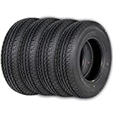 Ark Motoring ST225/75R15 Radial Trailer Tire ST225 75R15, 117M 10-Ply Load Range E,Set of 4