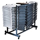 Storage Rack Folding Chair Cart