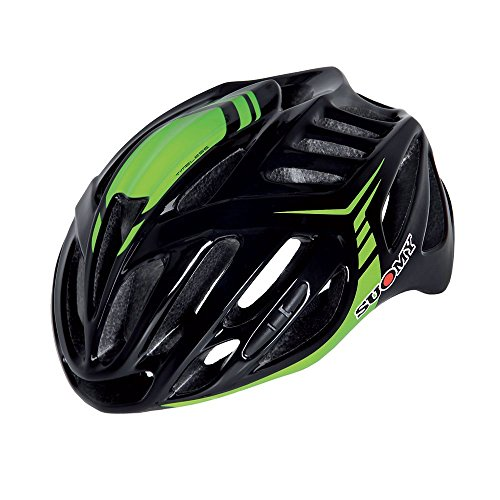 Suomy Casco Bici Timeless Nero/Verde Taglia L (Caschi MTB e Strada) / Road Helmet Timeless Black/Green Size L (MTB And Road Helmet)