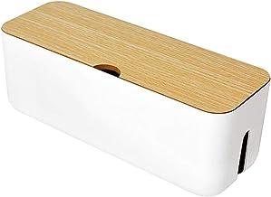 Guer Boîte anti-poussière de la multiprise – Rangement de la boîte de gestion des câbles – Pour la maison ou le bureau pou...