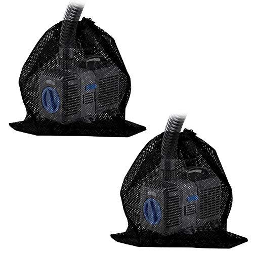 I3C 2 Stück Universal Pumpenfilterbeutel Filtersack Pump Barrier Bag Teich Pumpenfilternetz Teichpumpe Filterbeutel für biologische Teichfilter Aquariumfiltrationsteich & Tauch-Außenbereich