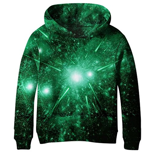 cneWID Teen Boys' Galaxy Fleece Sweatshirt Pocket Pullover Hoodies 4-14Y, Boys Girls8893, Boys Girls8893 7-8 Jahre