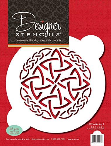 Designer Stencils Celtic Top 1 Cake Stencil, Beige/semi-transparent