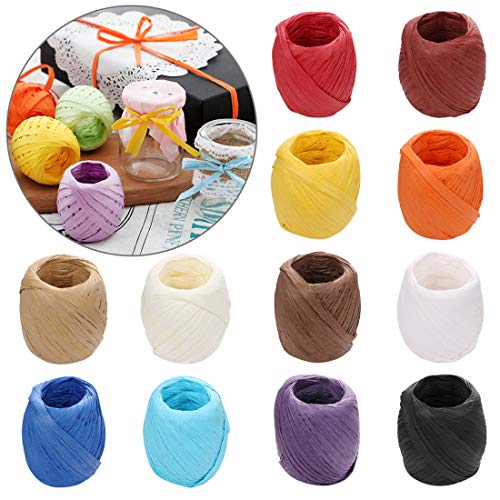 Kraft 1//10,2/cm larghezza Craft carta da imballaggio spago Tenn Well 199,3/m rafia Paper Craft Ribbon