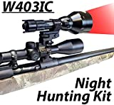 Wicked Lights W403IC Night Hunting Kit with Red Intensity Control LED for Predator, varmint & Hog Complete Red led Light kit