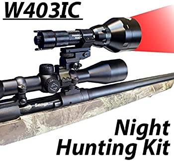 Wicked Lights W403IC Night Hunting Kit with Red Intensity Control LED for Predator varmint & Hog Complete Red led Light kit