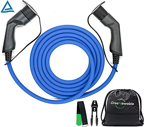 Greenewable cavo di ricarica auto elettrica tipo 2 5m 32a per wallbox 22kW adattatore adattatore auto elettrica 3 fasi stazione di ricarica 400V IEC62196 per Zoe,FORTWO,ID.3