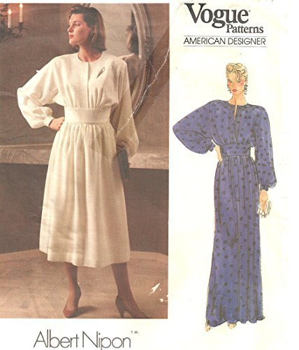 Vogue vintage sewing pattern 1390 Albert Nipon 2-piece dress - Size 8