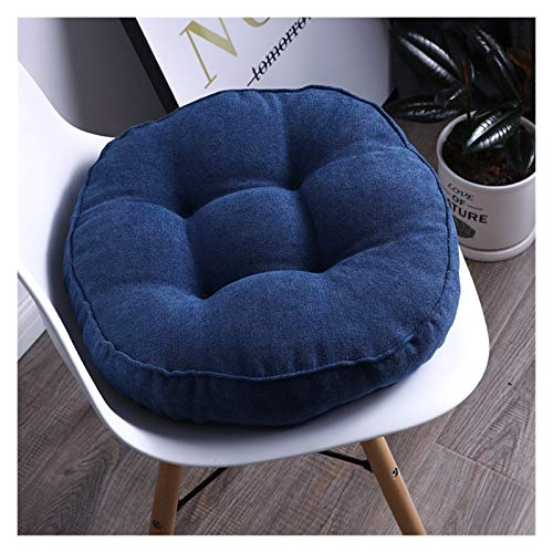 Seat Cushion Car Cushions Square Sofa Pillows For Office Chairs And Outdoor 40x40/45 X45/50 X50cm (Color : B navy blue, Specification : About 38x38cm)