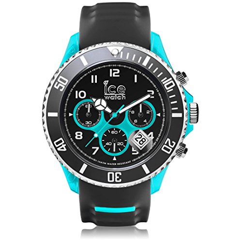 Ice-Watch - ICE sporty Grey Scuba blue - Men's wristwatch with silicon strap - Chrono - 001342 (Extra large)