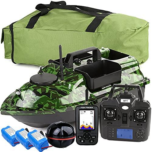 500M GPS Wireless Fishing Bait Boat Carp Fishing Boat Motoscafo RC Barca 3 Tramogge Ecoscandagli GPS LCD con sensore Sonar, ecoscandaglio da Pesca.WQQWQQ-8521 (Color : GPS Boat Set 3)