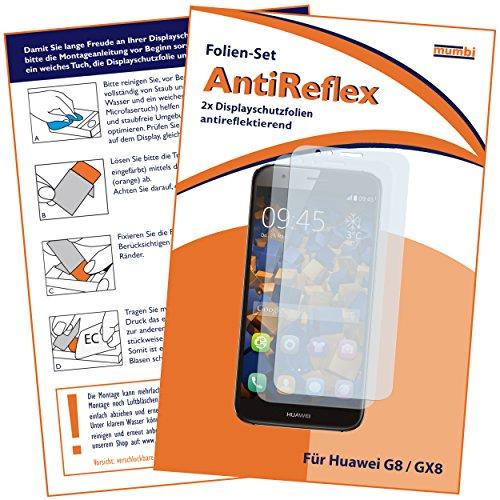 mumbi Schutzfolie kompatibel mit Huawei G8 / G8x Folie matt, Bildschirmschutzfolie (2x)